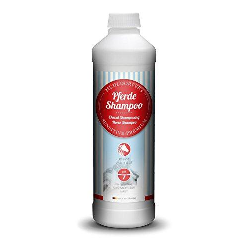 Mühldorfer Pferdeshampoo, 500 ml, reinigt und pflegt Fell, Mähne und Schweif, sanft zur Haut, ergiebig, Pflegemittel für Pferde und Ponys
