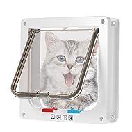 BOENTA Cat Flaps For Upvc Door Cat Flaps For Wooden Doors Cat Flap Microchip Activated Dog Flaps Lar...