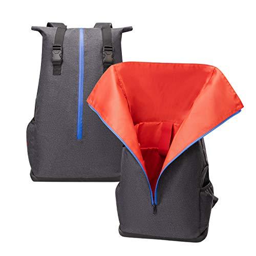 Mochila Jesper Skergren con parte superior enrollable, tela impermeable, compartimento para portátil, base impermeable, unisex, universidad, ocio