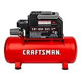 Craftsman Air Compressor, 2 Gallon Portable Air Compressor, Hot Dog Tank, 1/3 HP Oil-Free Max 125 PSI Pressure, 0.7 CFM@40 PSI, 0.5 CFM@90 PSI, Model: CMXECXA0200243