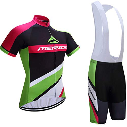 Maillot Cyclisme Pro Homme Manches Courtes Vêtement Vélo + Short de Cycliste avec 3D Gel Rembourré Respirant Vetement Velo Route Homme