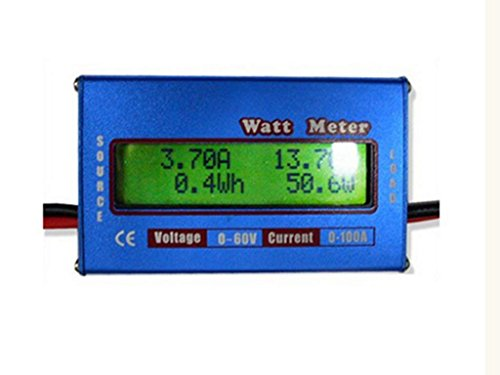 DC 60V/100A Hochpräzise Leistungsmesser LCD-Display WATT Meter - Blau