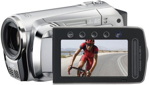 JVC GZ-MS120S Flash Memory Camcorder With Dual SD/SDHC Card Slot & Konica...