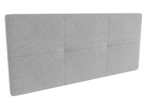 LA WEB DEL COLCHON - Cabecero tapizado Andrea para Cama de 150 (160 x 70 cms) Gris Claro Textil Suave