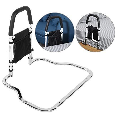Riel de Cama de Seguridad, Barandillas de Cama en Acero Inoxidable con Bolsa para Personas Mayores, Embarazadas y Discapacitadas