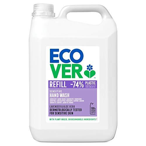 Ecover Savon Mains Parfum Lavande Format Xl | Origine Naturelle Éco-Responsable | Pour Une Peau Ultra Douce | 5L