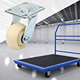 ROSEBEAR Ruedas Giratorias de Nailon de 4 Piezas Ruedas Giratorias Resistentes para Carros de Muebles Accesorios de Productos de Manipulación de Materiales de 4 Pulgadas