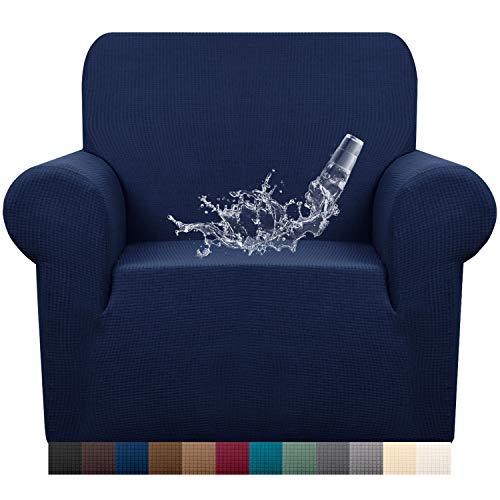 Granbest - Funda para sofá de tela supersuave y elástica, repelente al agua, Azul marino, Silla