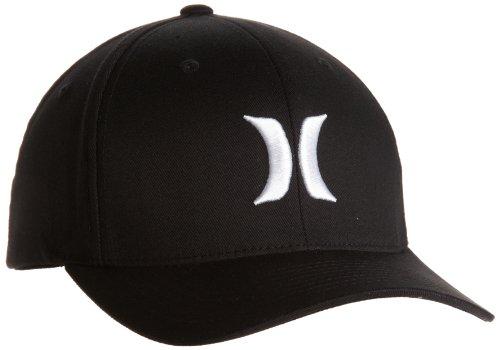 Hurley Uni One & Only Black Flexfit Cap, White, S/M