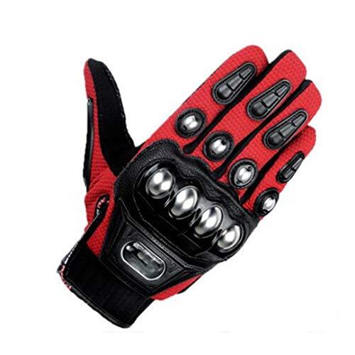Guantes de moto para hombre Gants Moto Racing Guantes de equitación moto de Motociclista Luva Motocross, Hombre, rojo, xx-large