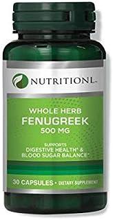Nutritionl Whole Herb Fenugreek 500 mg 30 Capsules