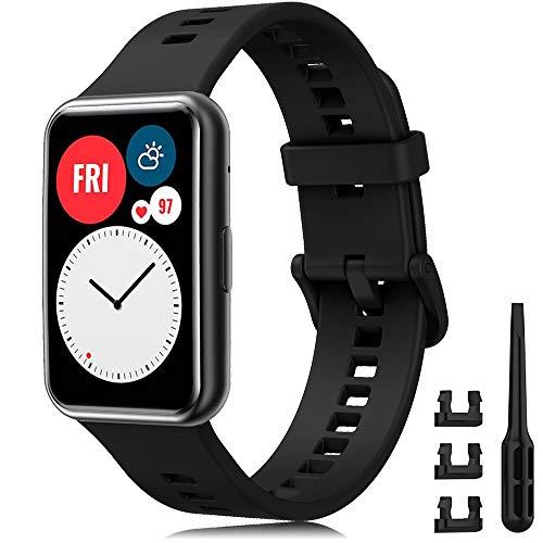 YASPARK Compatible con Huawei Watch Fit Correa, Silicona Pulsera Deportiva Repuesto Correa para Huawei Watch Fit Smartwatch