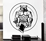 Wall Decal Werewolf Berserker Ax Wolf Power Night Mural Vinyl Stickers VS067