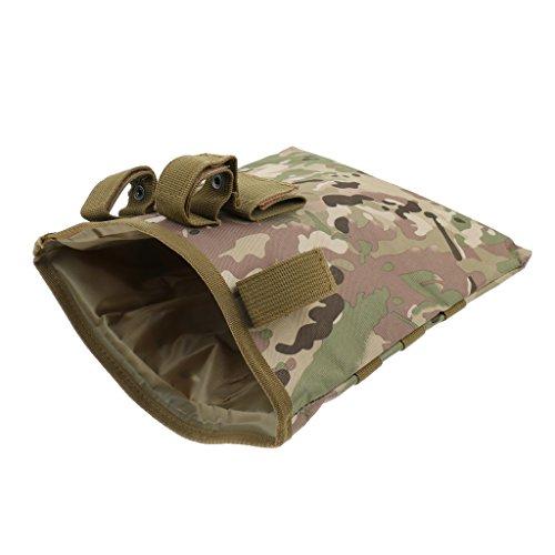 Sharplace Molle Extérieure Straps Tactique Stocking Dump Drop Pouch Hunting - CP Camo, 29.5x25cm