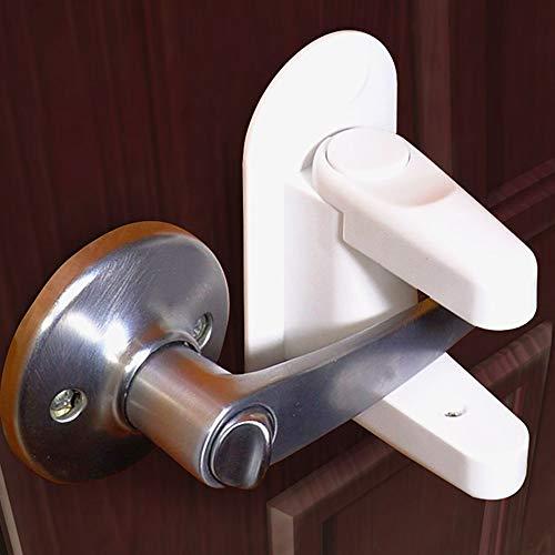 Jolik Door Lever Lock (4 Pack) Child Proof Doors & Handles 3M VHB Adhesive - Child Safety