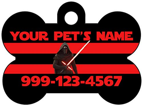 Star Wars Kylo Ren Custom Pet Id Dog Tag Personalized w/ Your Pet's Name & Number