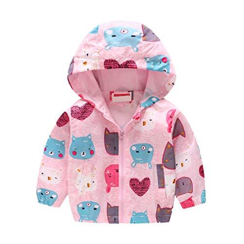Yying Enfants Vêtements Garçons Vestes Enfants Capuche Coupe-Vent Toddler Bébé Manteau Infant Hoodies Imperméables pour Les Filles