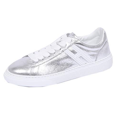 Hogan 1143J Sneaker Donna Silver H365 Scarpe H Glitter Shoe Woman [40]