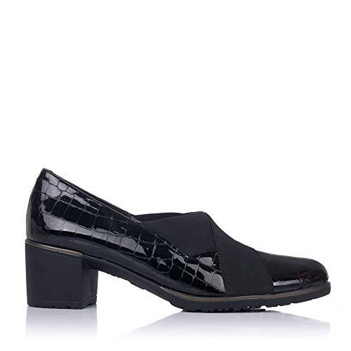 PITILLOS 6330 Damen Elastische Schuhe, Schwarz - Schwarz - Größe: 37 EU