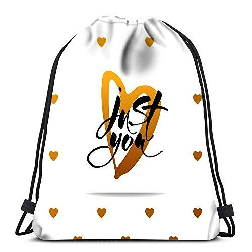 Lsjuee Zaino Borsa con coulisse Fitness Palestra Distintivo Emblema Uomo Bodybuilder Sollevamento Manubri Viaggio sportivo Yoga Gymsack
