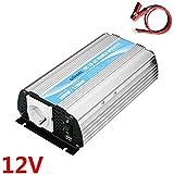 600W wechselrichter 12v auf 230v spannungswandler konverter mit 1a - USB & Alligator Klemmen Kabel für laptops, Smartphones, Tablets Giandel