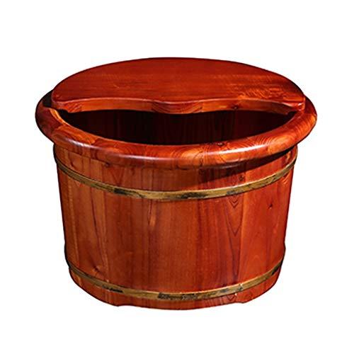 Pédiluve, Bois Toon Bain de Pieds Barrel, Lisse et pédicure délicats Barils Pédicure Bowl Spa Massage for Les Pieds Tremper Barrel avec Couvercle pédi