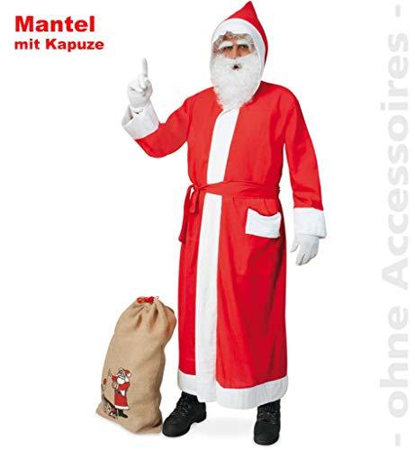 KarnevalsTeufel 2. Wahl Nikolausmantel für Erwachsene ideal für Weihnachtsmärkte oder Weihnachtsfeiern