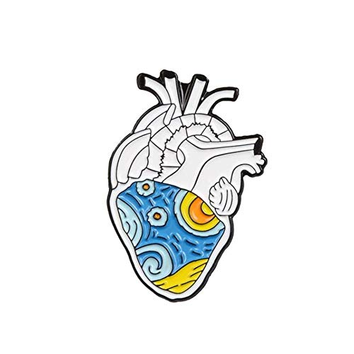 GAOX *19style Anatomical Heart Enamel Pins Anatomy Brooch Heart Neurology Pins For Doctor And Nurse Lapel Pin Bags Badge Gifts(Size:12)