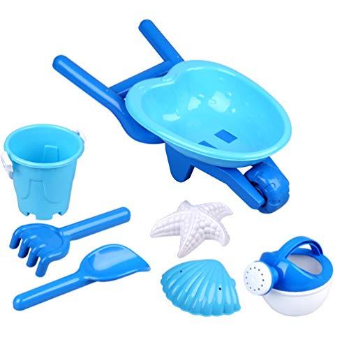 NUOBESTY 7 stücke Kinder Strand Spielzeug Sand Spielzeug kreative Kunststoff tragbare Strand Spielzeug Sand baggerschaufel sandkasten Sand Spielzeug für Jungen mädchen