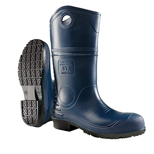 Dunlop 8908611 DURAPRO Boots with Safety Steel Toe, 100% Waterproof Polyblend PVC Material, Comfortable DURAPRO Energizing Insoles, Lightweight and Durable Protective Footwear, Size 11