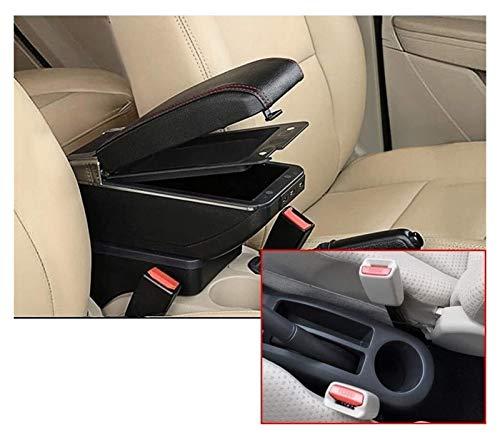 Double Layer Car Armrest Center Console Brazo con 7 puertos USB para TOYOTA YARIS 2006 2007 2009 2010 2011 2011 Descanso Descanso Función de carga Automática ARMANTE ARMADA CAJA DE CAJA DE CAJA 21-227
