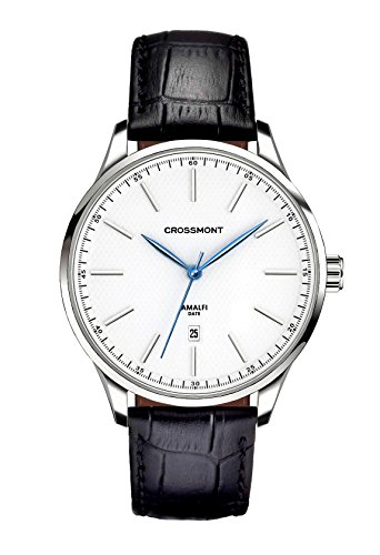 Crossmont Amalfi Bianco Nero Business 40.9 mm, Cristal de Zafiro Reloj de Pulsera Relojes de Moda CW0110405