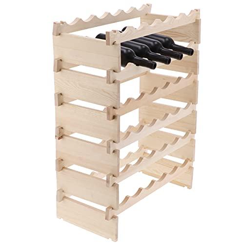 Eulbevoli Estante de Vino, portabotellas de Vino Aspecto Exquisito Estante de Vino Modular para restaurantes para Casas