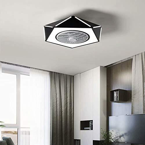 Fan Light Lámpara de techo LED Ventilador de techo invisible para habitación infantil con iluminación Regulable Velocidad del viento ajustable Ventilador de techo silencioso,Control remoto,Ø53cm