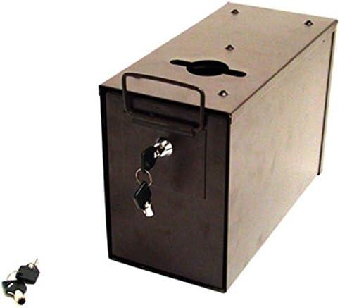 Poker Supplies Heavy Duty Slim Line Box National uniform Max 42% OFF free shipping Metal Lock Ca for Toke