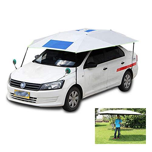 Paraguas universal para carros, carros antirravioleta Carport móviles Carpa plegable Protección, Paraguas para autos prueba sol Sombrilla Cubierta dosel, Puede usarse como sombrilla playa / pesca