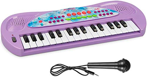 AIMEDYOU Kids Piano Keyboard 32 Keys Portable Electronic Musical Instrument Multi-Function Keyboard Teaching Toys Birthday Christmas Day Gifts for Kids (Purple)