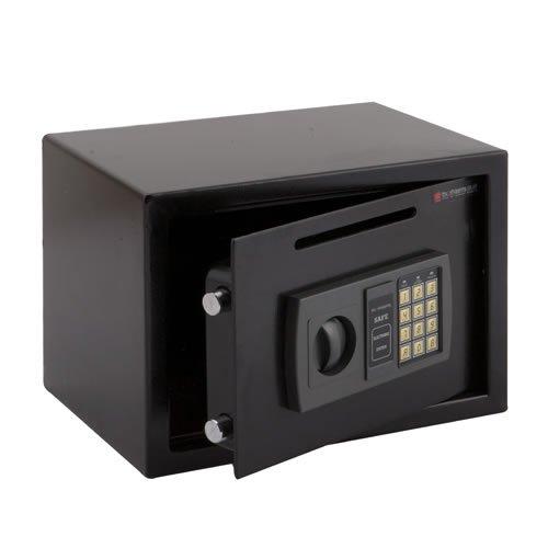 Trueshopping Caja de seguridad electrónica segura Hogar de alta seguridad Caja de construcción de acero sólido Dinero en efectivo 9.5KG Ranura de contabilización conveniente