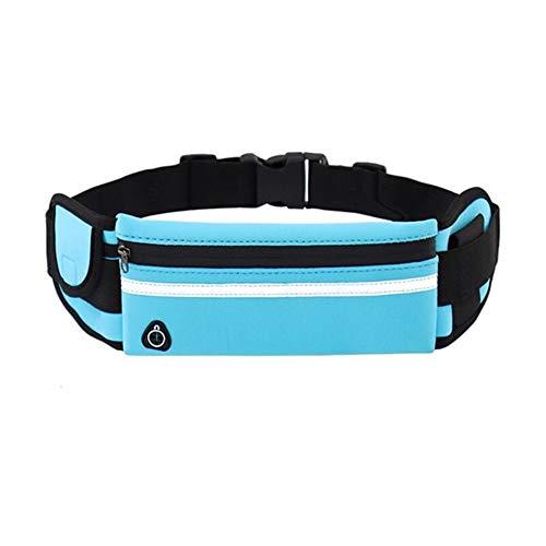 CHEN Paquete de Cintura para cinturón de Correr: antirrobo e Impermeable con Orificio para Auriculares para Hacer Ejercicio, Bolsa Ajustable para Correr para Todo Tipo de teléfonos
