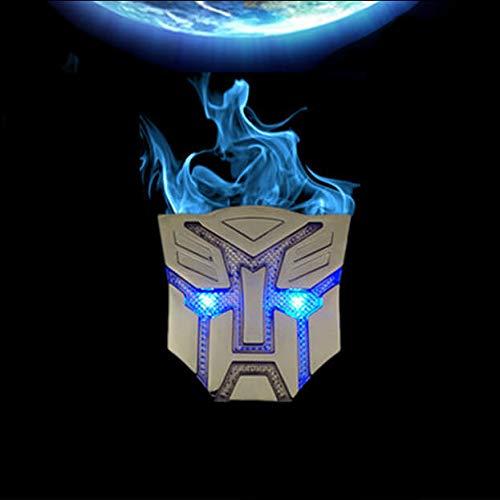 YHK Transformers Emblem with Strobe Light,Transformer Autobot Auto Emblem Badge Solar Battery Charging