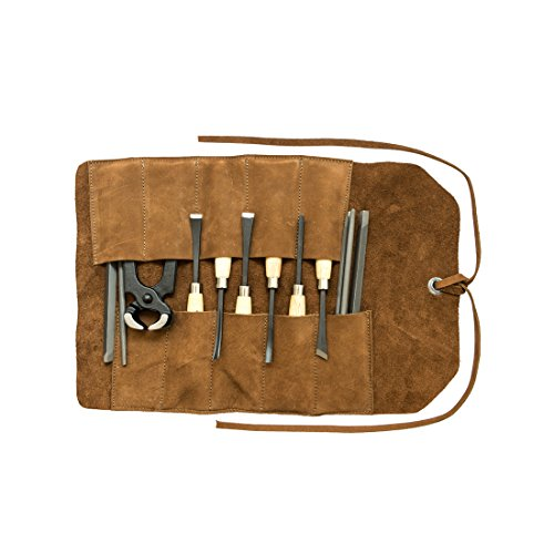 Hide & Drink, Soft Leather Small Tool Roll, Handmade Includes 101 Year Warranty :: Swayze Suede