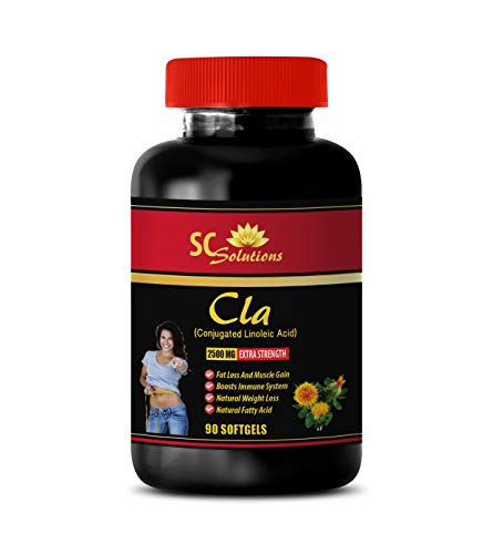 Energy Boosting Supplements - CLA 2500MG - Extra Strength - cla for her - 1 Bottle (90 Softgels)