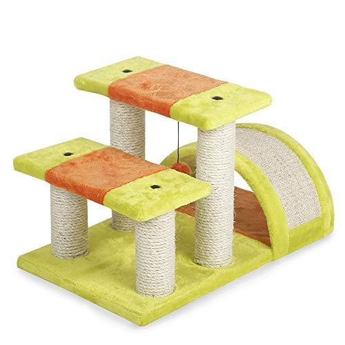 WFDA Katzen-Baum Kratzbaum Doppel Jumping-Plattform-Katzen-Rahmen-Bogen-Brücke Katze Krabbeln Rahmen Katze Kratzbrett Spaß Pet Klettergerüst Katze Katzen Plüsch Condo Nest Basket Perch Platform