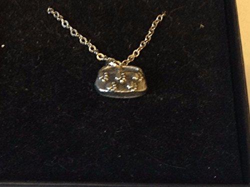 Giftsforall TG36 Halskette mit Katzennapf, Zinn, versilbert, 45,7 cm