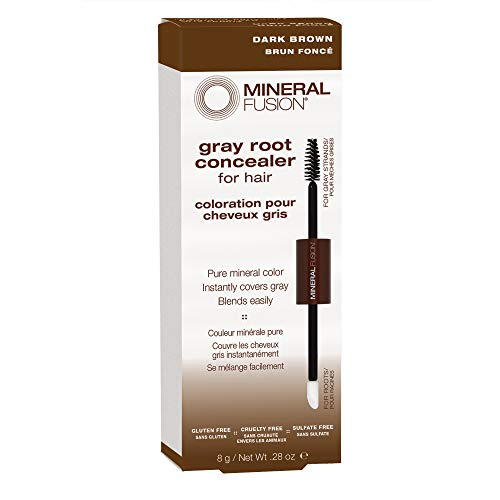 Mineral Fusion Gray Root Concealer for Hair, Dark Brown, 0.28 oz