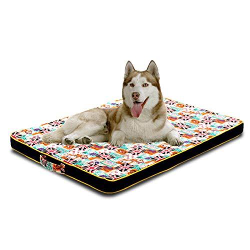 SENFEISM Cama para Perros, Alfombrilla Grande para Cama para Perros, sofá para Cachorros, colchón ortopédico Grueso para Perros pequeños, medianos, Grandes, cojín para Dormir, Husky