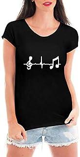Camiseta Feminina Criativa Urbana Loucas Por Musica Preta