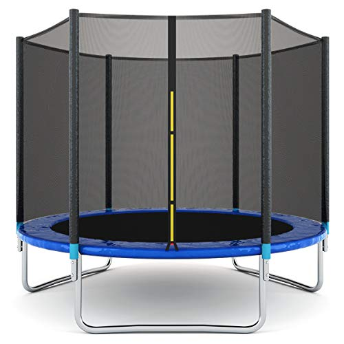 Giantex 8FT Trampoline with Safety Enclosure Net, Spring Pad, Ladder, Combo Bounce Jump Trampoline, Outdoor Trampoline for Kids, Adults
