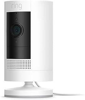 Ring Stick Up Cam Plug In von Amazon, HD Sicherheitskamera mit Gegensprechfunktion, funktioniert mit Alexa| Mit 30 tägigem Testzeitraum für Ring Protect | Weiß