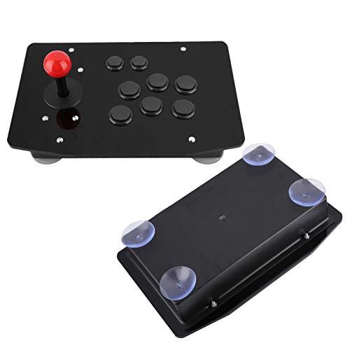 Joystick Arcade Rocker Game, Tidy Game Handle Controller con 8 Botones Tipo Tarjeta 3D, Joystick Limpio con Carcasa de Cristal acrílico para XP/Win 7/8 / PS3, USB Plug and Play